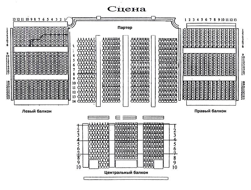 Схема зала: